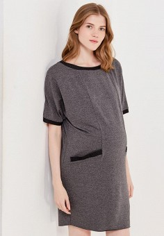 Платье, 9fashion Woman, цвет: серый. Артикул: FA041EWWMS27.