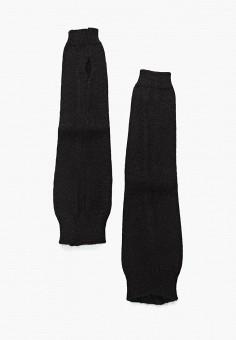 Митенки, Ferz, цвет: черный. Артикул: FE913DWYAA09. Аксессуары / Перчатки и варежки