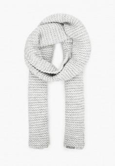 Шарф, Ferz, цвет: серый. Артикул: FE913GUKKAK4. Аксессуары / Платки и шарфы