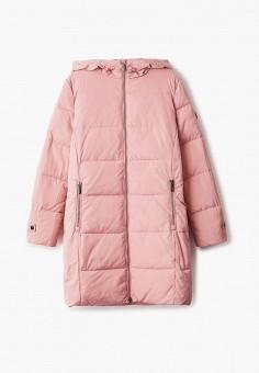 Куртка утепленная, Finn Flare, цвет: розовый. Артикул: FI001EKJTEV2. Девочкам / Одежда / Верхняя одежда / Куртки и пуховики