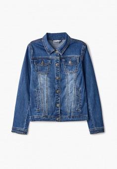 Куртка джинсовая, Finn Flare, цвет: синий. Артикул: FI001EKJTEZ6.