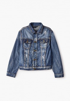 Куртка джинсовая, Finn Flare, цвет: синий. Артикул: FI001EKJTEZ9.