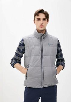 Жилет утепленный, Finn Flare, цвет: серый. Артикул: FI001EMJSLN5. Одежда / Верхняя одежда / Жилеты