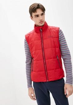 Жилет утепленный, Finn Flare, цвет: красный. Артикул: FI001EMJSLN6. Одежда / Верхняя одежда / Жилеты