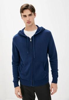 Кардиган, Finn Flare, цвет: синий. Артикул: FI001EMJSLO8. Одежда / Джемперы, свитеры и кардиганы / Кардиганы