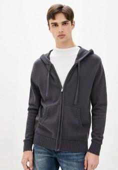 Кардиган, Finn Flare, цвет: серый. Артикул: FI001EMJSLO9. Одежда / Джемперы, свитеры и кардиганы / Кардиганы