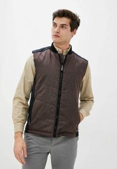 Жилет утепленный, Finn Flare, цвет: коричневый. Артикул: FI001EMJSLQ4. Одежда / Верхняя одежда / Жилеты