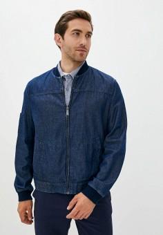 Куртка джинсовая, Finn Flare, цвет: синий. Артикул: FI001EMJSLQ9. Одежда / Верхняя одежда / Джинсовые куртки