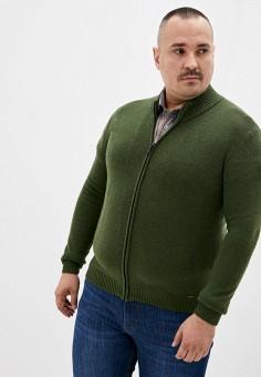 Кардиган, Finn Flare, цвет: зеленый. Артикул: FI001EMJSLW3. Одежда / Джемперы, свитеры и кардиганы / Кардиганы