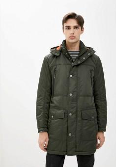 Куртка утепленная, Finn Flare, цвет: хаки. Артикул: FI001EMJTFE6. Одежда / Верхняя одежда / Пуховики и зимние куртки