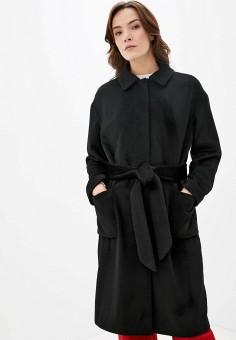 Пальто, Finn Flare, цвет: черный. Артикул: FI001EWJTFA7.