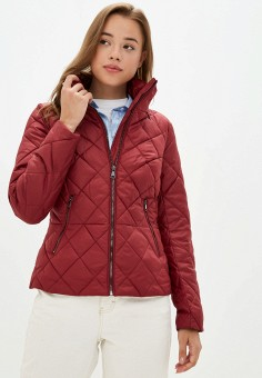 Куртка утепленная, Finn Flare, цвет: бордовый. Артикул: FI001EWKBLS3. Одежда / Верхняя одежда / Демисезонные куртки