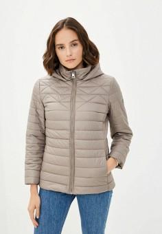 Куртка утепленная, Finn Flare, цвет: бежевый. Артикул: FI001EWKBLW2. Одежда / Верхняя одежда / Демисезонные куртки