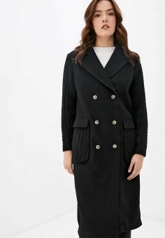 Пальто, Finn Flare, цвет: черный. Артикул: FI001EWKBMD7.