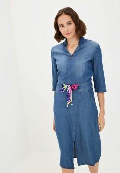 Платье джинсовое, Finn Flare, цвет: синий. Артикул: FI001EWKBNG9.