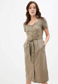 Платье, Finn Flare, цвет: коричневый. Артикул: FI001EWKBNJ8.