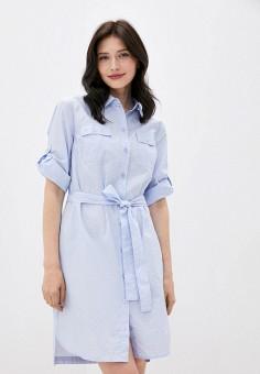 Платье, Finn Flare, цвет: голубой. Артикул: FI001EWKBNK0. Одежда / Одежда больших размеров