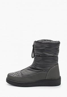 Дутики, Finn Line, цвет: серый. Артикул: FI616AWGQTP6. Обувь / Сапоги / Дутики