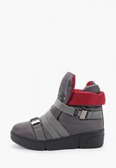 Дутики, Finn Line, цвет: серый. Артикул: FI616AWGQTQ6. Обувь / Сапоги / Дутики