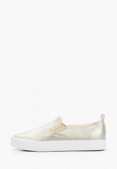 Слипоны, Flyfor, цвет: золотой. Артикул: FL009AWIZLM4. Обувь / Слипоны