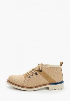 Ботинки, Floktar, цвет: бежевый. Артикул: FL020AMIWJR2. Обувь / Ботинки / Низкие ботинки