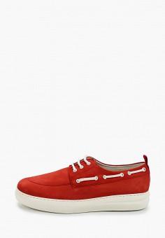 Топсайдеры, Floktar, цвет: красный. Артикул: FL020AMJIRA3. Обувь / Мокасины и топсайдеры