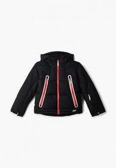 Куртка горнолыжная, 4F, цвет: черный. Артикул: FO027EBHYLE1. Мальчикам / Одежда / Верхняя одежда / Куртки и пуховики