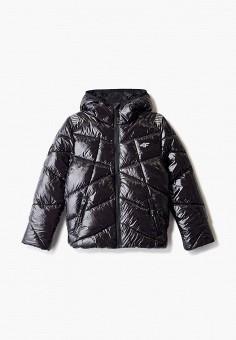 Куртка утепленная, 4F, цвет: черный. Артикул: FO027EBHYLE4. Мальчикам / Одежда / Верхняя одежда / Куртки и пуховики