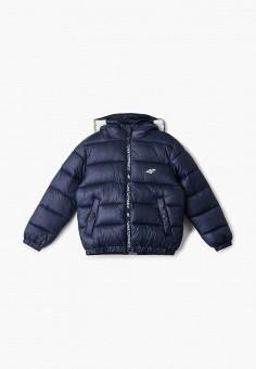Куртка утепленная, 4F, цвет: синий. Артикул: FO027EBHYLE6. Мальчикам / Одежда / Верхняя одежда / Куртки и пуховики