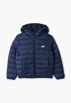 Куртка утепленная, 4F, цвет: синий. Артикул: FO027EBIQXK4. Мальчикам / Одежда / Верхняя одежда / Куртки и пуховики