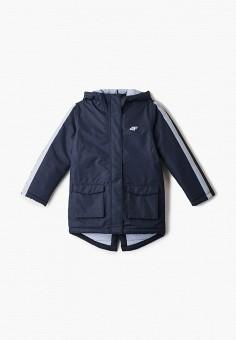 Куртка утепленная, 4F, цвет: синий. Артикул: FO027EGHYLC7. Девочкам / Одежда / Верхняя одежда / Куртки и пуховики