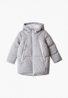 Куртка утепленная, 4F, цвет: серый. Артикул: FO027EGHYLD3. Девочкам / Одежда / Верхняя одежда / Куртки и пуховики