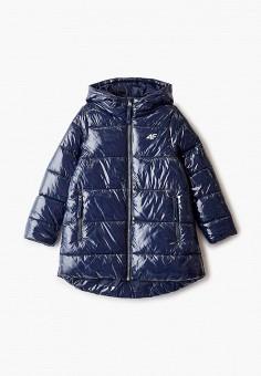 Куртка утепленная, 4F, цвет: синий. Артикул: FO027EGHYLD5. Девочкам / Одежда / Верхняя одежда / Куртки и пуховики