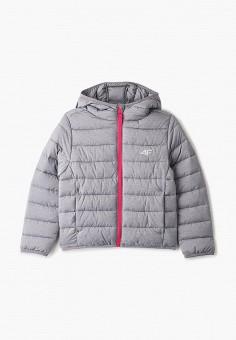 Куртка утепленная, 4F, цвет: серый. Артикул: FO027EGJCHR7. Девочкам / Одежда
