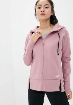 Толстовка, 4F, цвет: розовый. Артикул: FO027EWIRCT9. Одежда / Толстовки и свитшоты