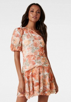 Платье, Forever New, цвет: коралловый. Артикул: FO034EWJLBG1. Одежда / Платья и сарафаны / Вечерние платья