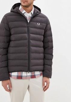 Куртка утепленная, Fred Perry, цвет: серый. Артикул: FR006EMGLXI5. Одежда / Верхняя одежда / Демисезонные куртки
