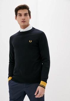 Джемпер, Fred Perry, цвет: черный. Артикул: FR006EMHPEM8. Одежда / Джемперы, свитеры и кардиганы / Джемперы и пуловеры