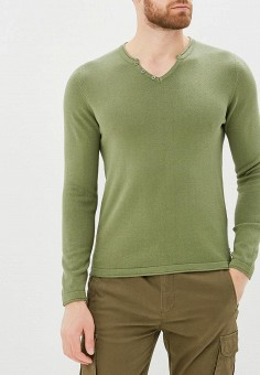 Пуловер, Fresh Brand, цвет: хаки. Артикул: FR040EMBRCB6. Одежда / Джемперы, свитеры и кардиганы / Джемперы и пуловеры