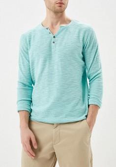 Джемпер, Fresh Brand, цвет: бирюзовый. Артикул: FR040EMBRCB8. Одежда / Джемперы, свитеры и кардиганы / Джемперы и пуловеры
