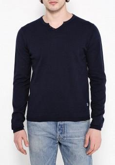 Пуловер, Fresh Brand, цвет: синий. Артикул: FR040EMPPD65. Одежда / Джемперы, свитеры и кардиганы / Джемперы и пуловеры