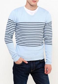 Пуловер, Fresh Brand, цвет: голубой. Артикул: FR040EMVAS17. Одежда / Джемперы, свитеры и кардиганы / Джемперы и пуловеры