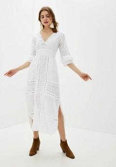 Платье, Fresh Cotton, цвет: белый. Артикул: FR043EWINTU1. Одежда / Платья и сарафаны