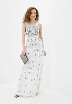 Платье, Frock and Frill, цвет: белый. Артикул: FR055EWHNRV8. Одежда / Платья и сарафаны / Вечерние платья