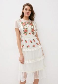 Платье, Frock and Frill, цвет: белый. Артикул: FR055EWHNRW8. Одежда / Платья и сарафаны / Вечерние платья