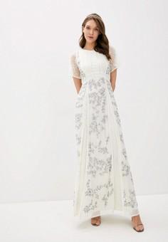 Платье, Frock and Frill, цвет: белый. Артикул: FR055EWHNRX1. Одежда / Платья и сарафаны / Вечерние платья
