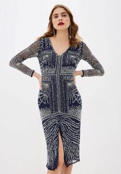Платье, Frock and Frill, цвет: синий. Артикул: FR055EWHSPK2. Одежда / Платья и сарафаны / Вечерние платья