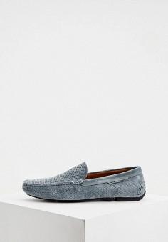 Мокасины, Fratelli Rossetti One, цвет: голубой. Артикул: FR950AMILLC0. Обувь / Мокасины и топсайдеры