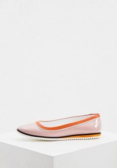 Балетки, Fratelli Rossetti One, цвет: розовый. Артикул: FR950AWILLA9. Обувь / Балетки