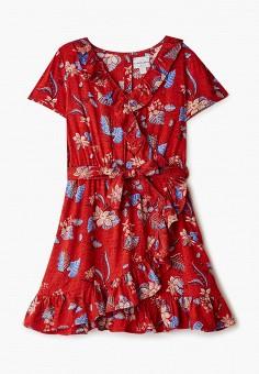 Платье, Funky Buddha, цвет: красный. Артикул: FU006EGIWES4. Девочкам / Одежда / Платья и сарафаны